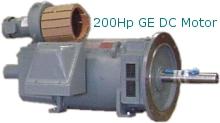200Hp G.E. DC Motor.