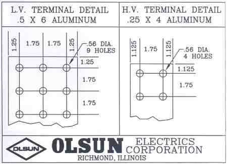 Low Voltage and High Voltage Terminal Details