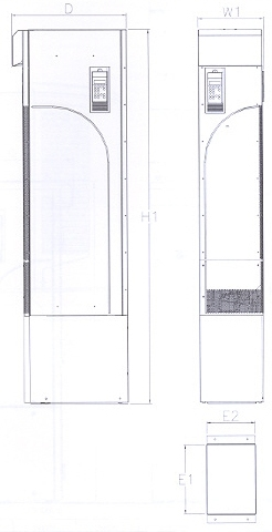 ACS 800-02 NEMA 1 R7 & R8 Frame Size