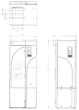 ACS 800-U2 NEMA 1 R7 & R8 Frame Size and ACS 800-02+C111IP21 (NEMA 1) R7 & R8 Frame Size�