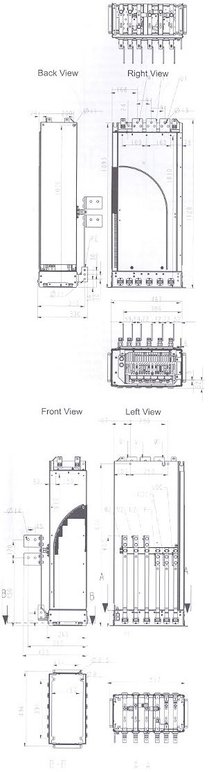 ACS 800-U4 Module R7 Frame Size