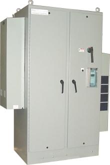 "Nema-4 enclosure - 90""H X 56.5""W X 24""D, with A/C's."
