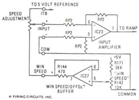 FIGURE 6A. 1679/1681 DC MOTOR CONTROL. MINIMUM SPEED CIRCUIT CONNECTIONS