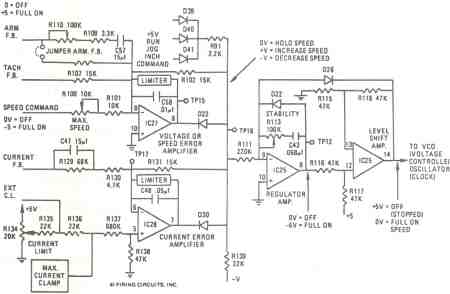 FIGURE 8. 1679/1681 DC MOTOR CONTROL. SPEED REGULATOR CIRCUIT