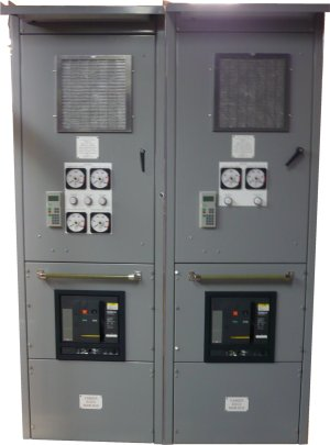 2 of the 4 SCR Drive Cabinets