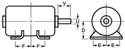 Basic Dimensions - NEMA and T-Frames