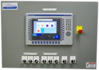 PLC Cabinet Door showing Touch Screen.