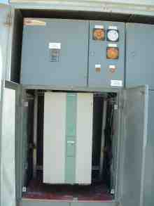 New Seimens SIMOREG DC Variable Speed Drive mounted in existing cabinet. Rinker Materials- Miami, Florida