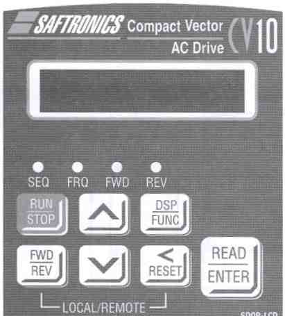 Saftronics - CV10 - Compact Vector AC Drive LCD Keypad (supports 5 languages).