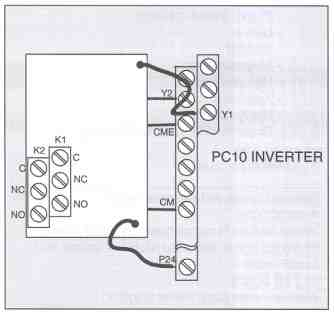 PC10 Relay Output Card Connection Diagram