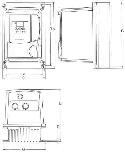 Saftronics S10 AC Micro Drives part Numbers S102F25 - S102001 no Operators.