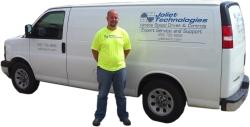 Our Service Van & Service Tech, Mason Morris.
