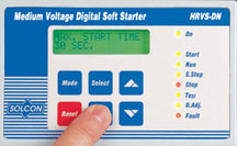 Solcon medium voltage soft starter digital display