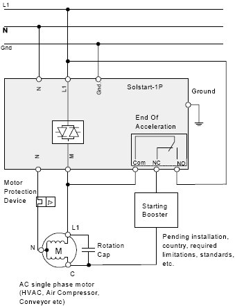 Solcon Single Pahse Miniture Analog Soft Starter Diagram